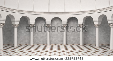 Column Arc Interior - stock photo