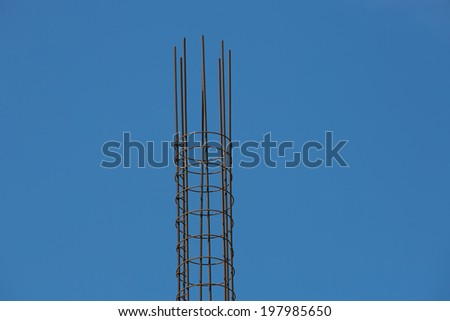 Column armature, building construction
