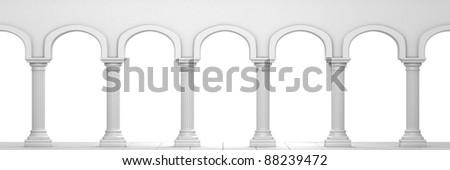 Column Corridor - stock photo