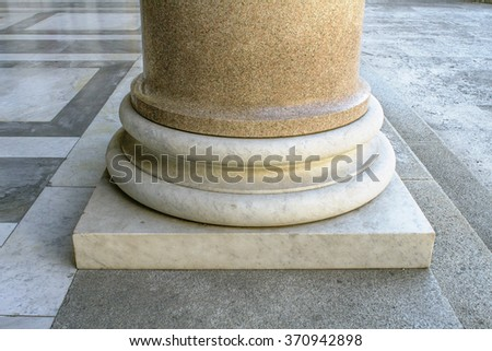 Column isolated in Saint Peter Basilica in Rome, Italy - stock photo