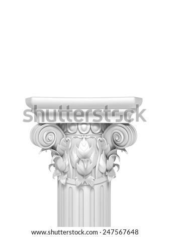 Column Pedestal Isolated - stock photo
