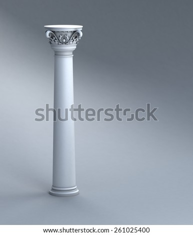 Column Studio Background - stock photo