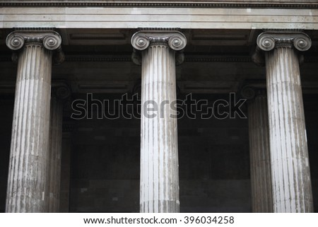 Columns of classical order - stock photo