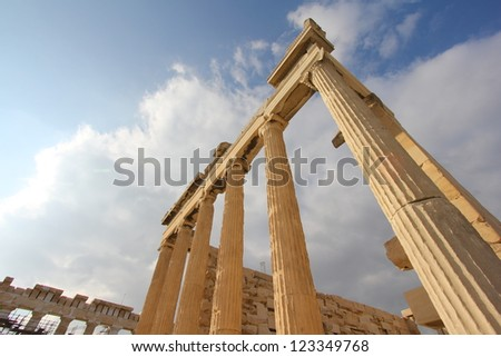 Columns of Old Temple of Athena