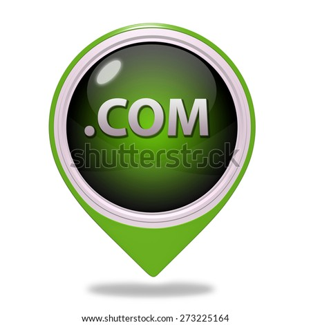 Com pointer icon on white background - stock photo