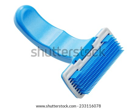 Comb for pet grooming - stock photo