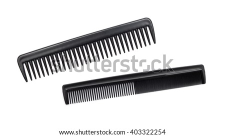 comb isolated on white close up look - stock photo
