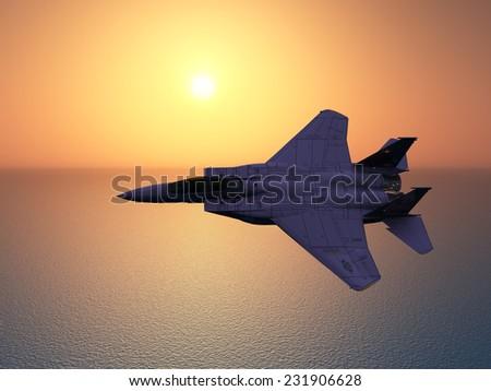 Combat Aircraft Computer generated 3D illustration - stock photo