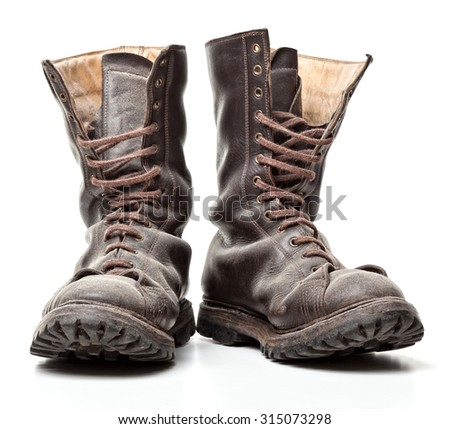 combat boot isolated on white background