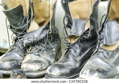 Combat Shoes - stock photo