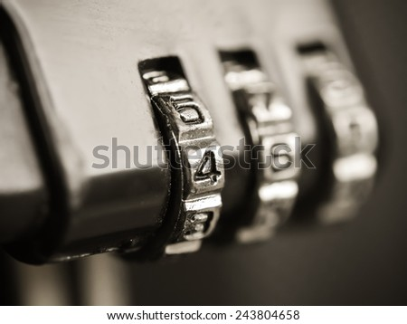 Combination lock - stock photo
