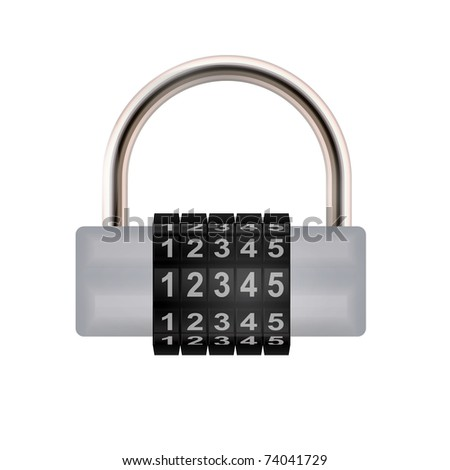 Combination lock. - stock photo