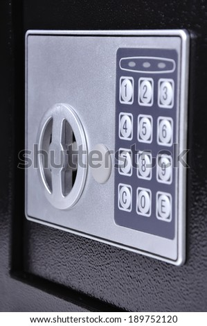 combination lock for safe cell, close up - stock photo