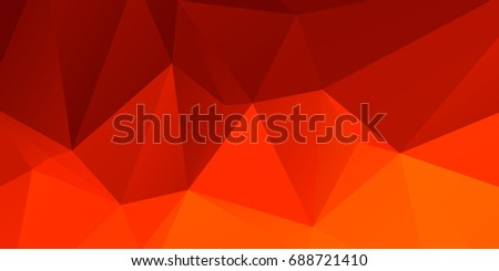 Combination of orange and red triangular stripes background wallpaper