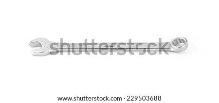 Combination Wrench Isolated - stock photo