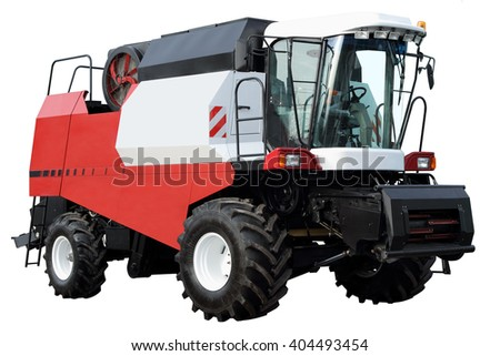 Combine without attachments, isolated on white background. - stock photo