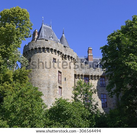Combourg castle in Brittany, northwestern France.