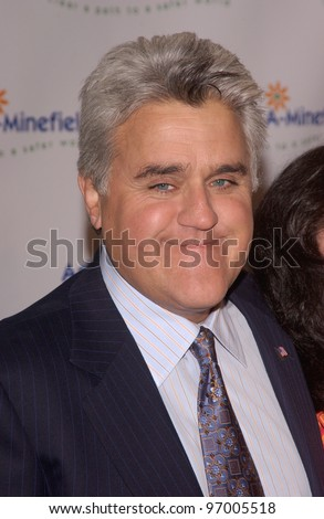 Comedian JAY LENO at the 4th Annual Adopt-A-Minefield Gala at the Century Plaza Hotel, Beverly Hills, California. October 15, 2004 - stock photo