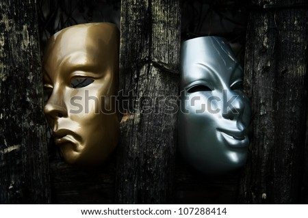 Comedy and Tragedy  - Drama Theater Masks - stock photo
