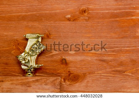 Comedy and Tragedy Masks on a wooden background - stock photo