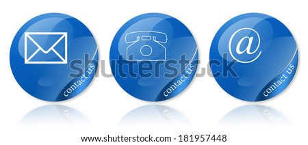 comemrcial contact signs for business - stock photo