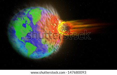 Comet crashed into Earth