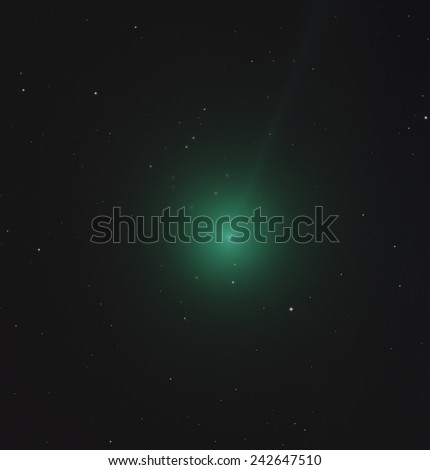 Comet Lovejoy getting brighter and closer to Earth on January 8, 2015 - stock photo