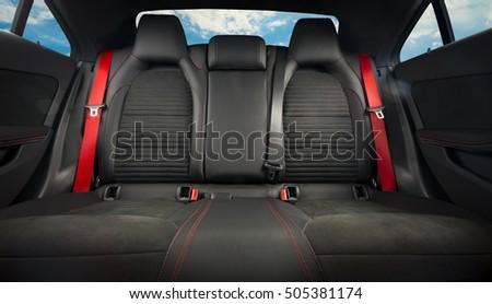Back Passenger Seats Modern Sport Car Stock Photo - Sports cars with back seats