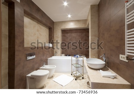 comfortable bathroom - stock photo