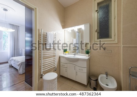 Comfortable bathroom in modern interior