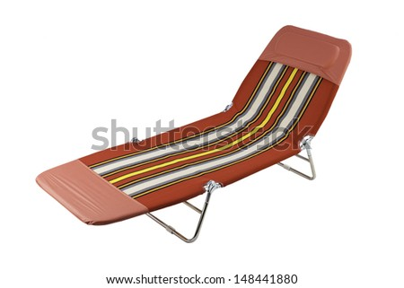 Comfortable beach bench isolated on white background - stock photo