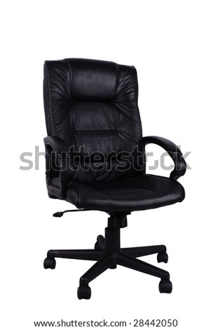 Comfortable leather chair isolated on white background