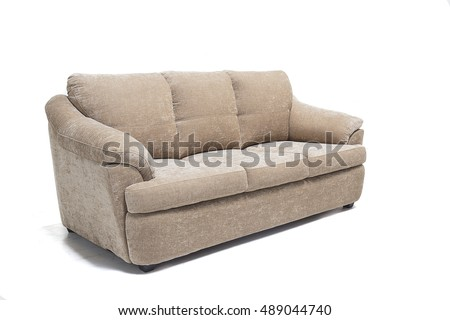 comfortable luxury sofa made of highest quality lenin and in beige color.