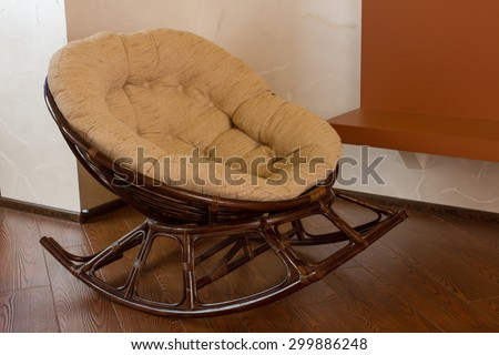 Comfortable rocking chair. - stock photo