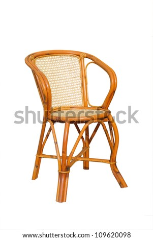 Comfortable Wooden Chair On White Background