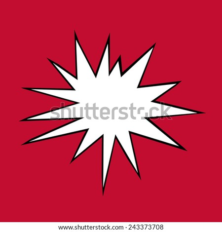 Comic Book Star isolated on Red Background - stock photo