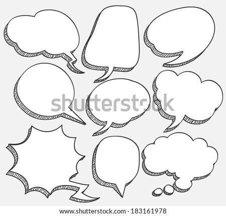 comic speech bubble  - stock photo