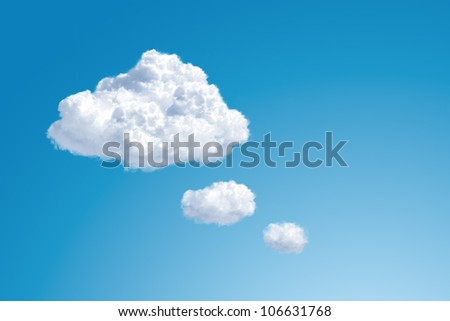 comic thought balloon with copy space for placing your objects - stock photo