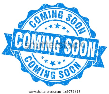Coming Soon Grunge Stamp - stock photo