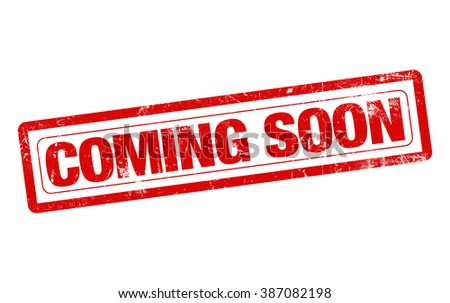 Coming soon word red stamp text on white background - stock photo