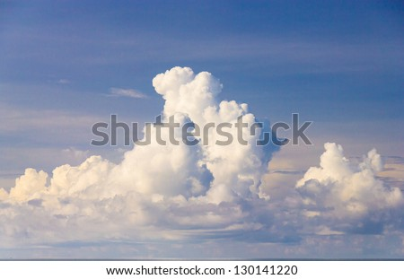 Coming Storm Clean Air - stock photo