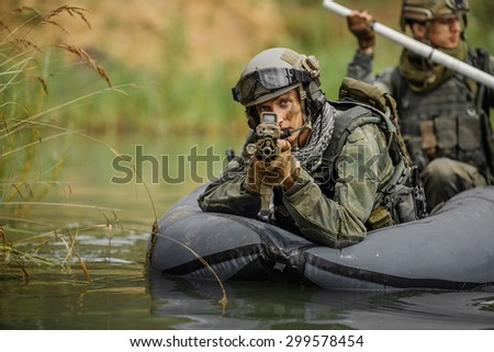 command rangers during the military operation in water
