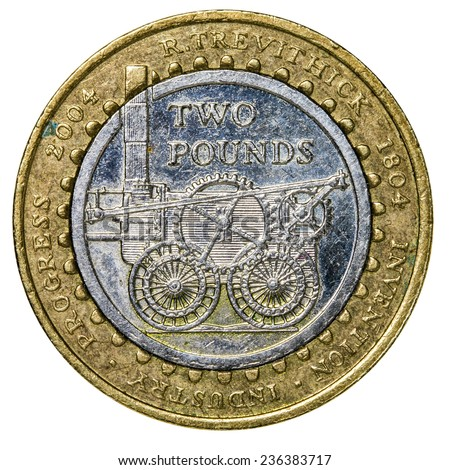 commemorative �£2 coin (Richard Trevithick - the first full-scale working railway steam locomotive)
