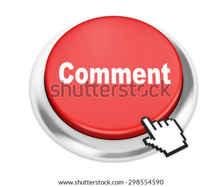 comment button on isolate white background - stock photo
