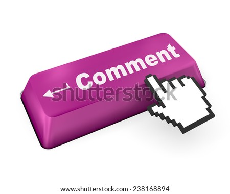 comment button ,social media - stock photo
