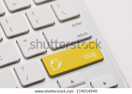 comment enter button key on white keyboard - stock photo