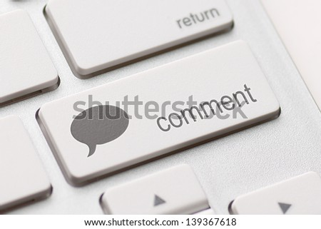 comment enter key and speech bubble icon.