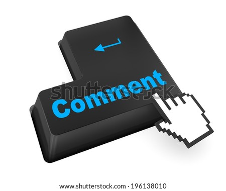 comment enter key like facebook twitter - stock photo