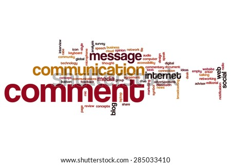Comment word cloud - stock photo