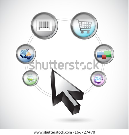 commerce process illustration design over a white background - stock photo